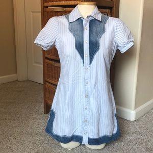 Free People pinstripe button dress
